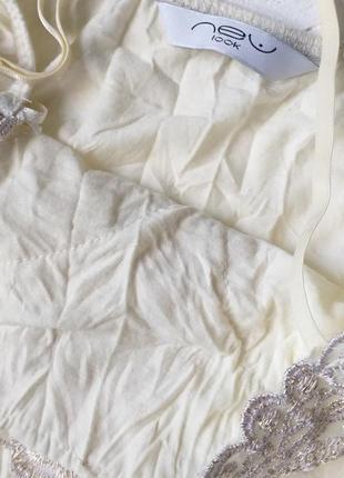 Топ жатка блуза в бельевом стиле на бретелях от new look3