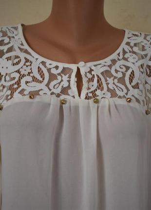 Новая красивая блуза с керужевом2