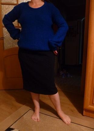 Очень красивый яркий легкий свитер оверсайз oversize индиго2