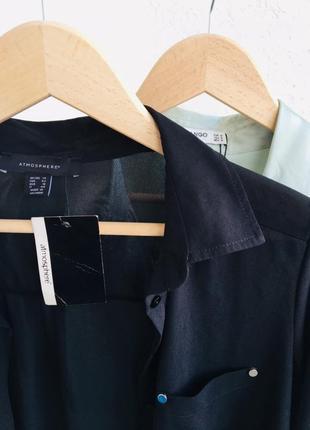 Блуза чёрная рубашка atmosphere