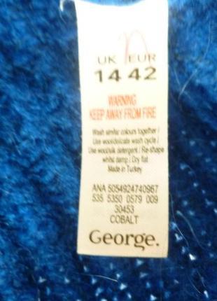 Очень красивый яркий легкий свитер оверсайз oversize индиго4