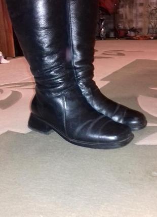 Сапоги кожаные по стельке 27 см