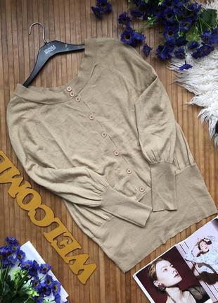 Стильный шерстяной джемпер с пуговицами на спинке3