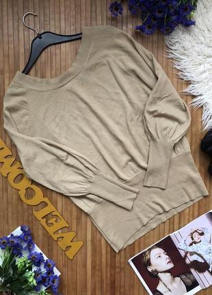 Стильный шерстяной джемпер с пуговицами на спинке1