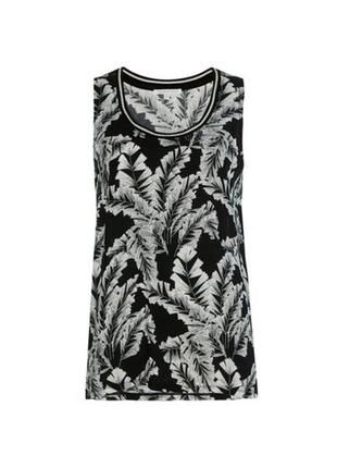 Блузка tramontana голландия туника майка блуза вискоза черный белый