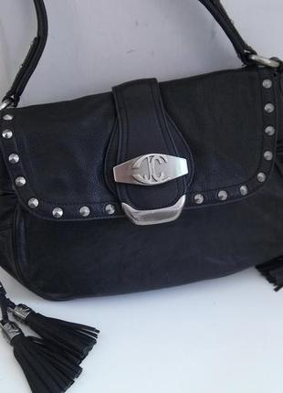 Брендовая кожаная сумка just cavalli