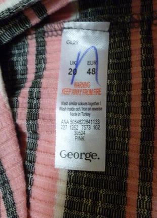 Свитер блуза лонгслив бадлон водолазка свободного кроя  полоска большой размер3