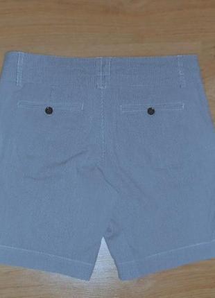 Шорты дания бермуды джинсовые в полоску высокая талия посадка хлопок р. м2