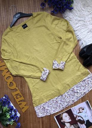 Стильный свитер с блузой обманкой1