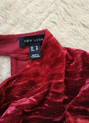 Шикарное бархатное платье с глиттером фирмы new look4