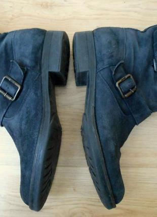 Полусапожки ботинки демисезонные замшевые кожаные на низком bagatto р. 39-40 (26 стелька)2