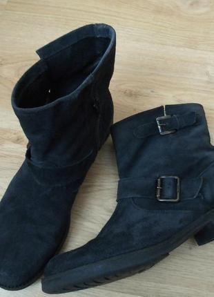 Полусапожки ботинки демисезонные замшевые кожаные на низком bagatto р. 39-40 (26 стелька)5