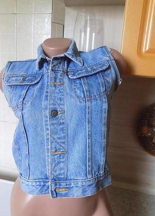 Идеальная джинсовая желетка rocky