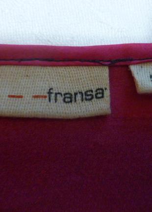1+1=3 простое очень классное стильное шелковое + трикотажное платье туника fransa2