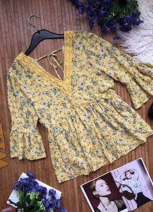 Шикарная нутуральная блуза с кружевом