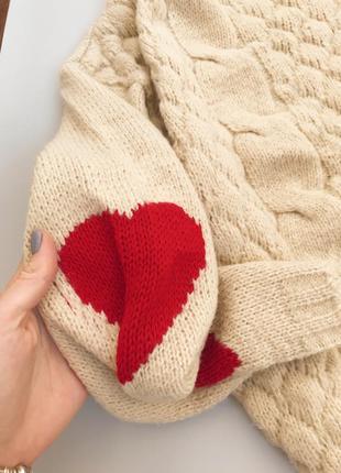 Нежный кремовый свитерок с сердечками boohoo4