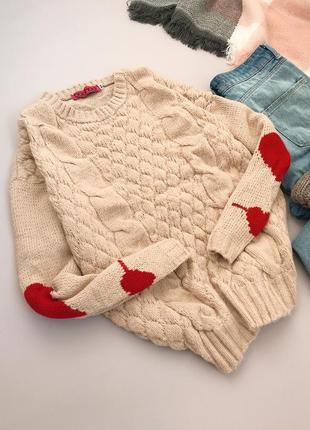 Нежный кремовый свитерок с сердечками boohoo3