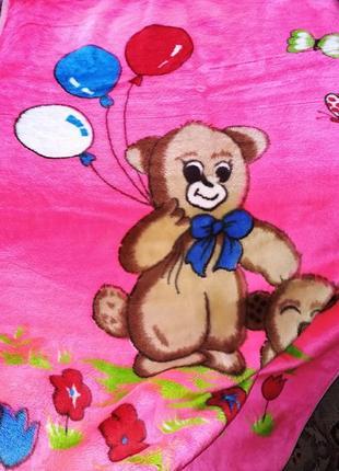Плед покрывало коврик одеяло розовый