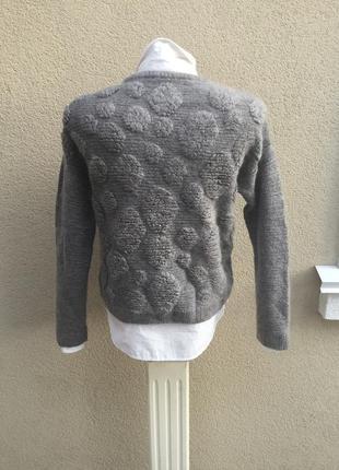 Вязанная,тёплая,фактурная кофта,свитер,джемпер,шерсть,мохер,акрил,италия3