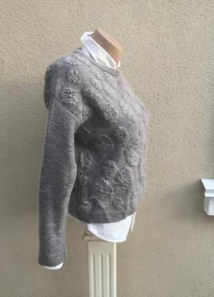 Вязанная,тёплая,фактурная кофта,свитер,джемпер,шерсть,мохер,акрил,италия4
