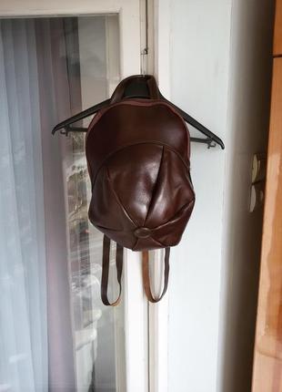 Эксклюзивный кожаный рюкзак  *кепка* 100% кожа