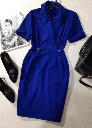 Красиво ярко синее платье. размер xs2