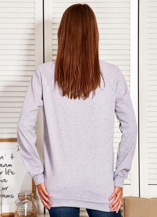 17-150 женская кофта свитшот удлиненная кофточка oversize2