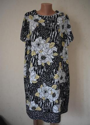Красивое платье с принтом большого размера1