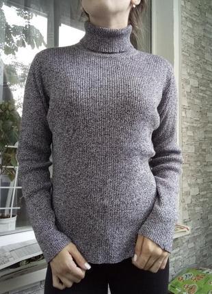 Кофта гольф свитер в рубчик1
