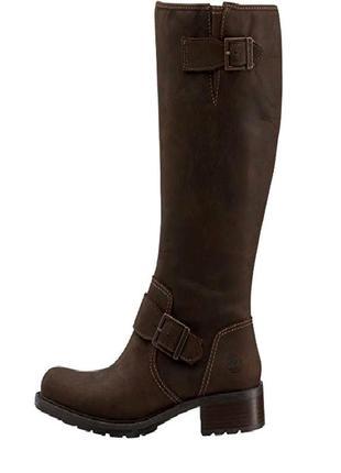 39р. кожаные коричневые сапоги, легендарные timberland  lexiss tall 703971