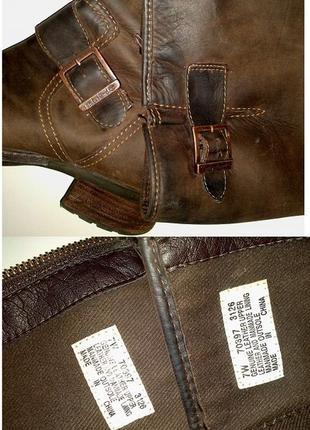 39р. кожаные коричневые сапоги, легендарные timberland  lexiss tall 703973
