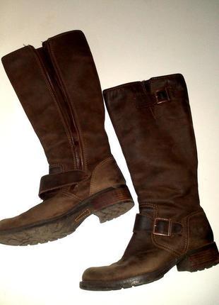 39р. кожаные коричневые сапоги, легендарные timberland  lexiss tall 703974