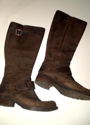 39р. кожаные коричневые сапоги, легендарные timberland  lexiss tall 703975