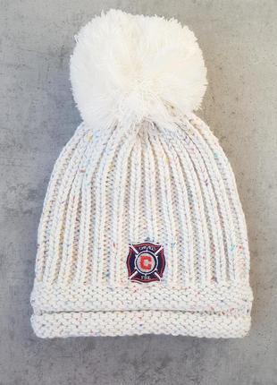 Зимняя шапка с помпоном adidas mls chicago fire, оригинал