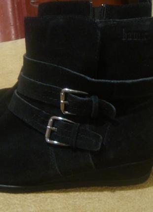 Замшевые утепленные ботинки