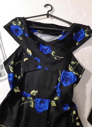 Красивая котоновое платье. размер xl-xxl3