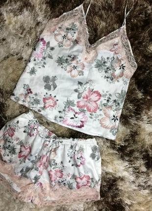 Пижама для сна пижамка комплект шорты маечка майка