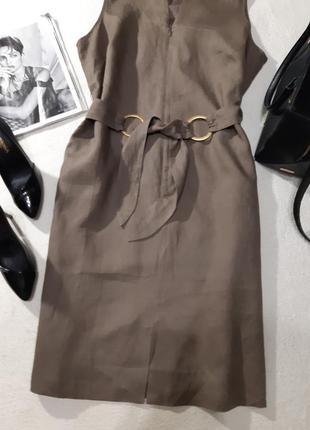 100% льон платье. размер 3xl2