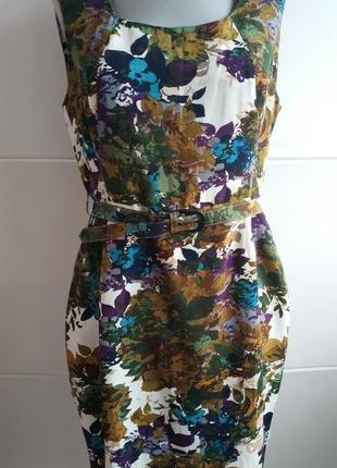 Стильное платье популярного бренда next с принтом красивых цветов1