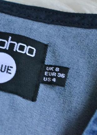 Новое джинсовое платье с декольте boohoo5