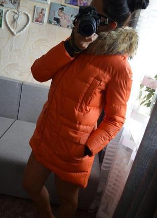 Яркий пуховик зимняя куртка