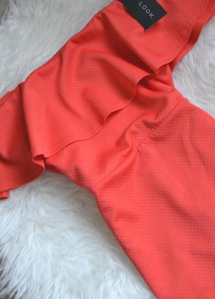 Новое миди платье с открытыми плечами и воланом new look4