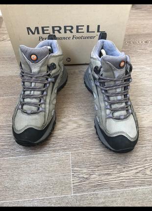 Кожаные треккинговые ботинки merrell  waterproof 39р 26 см