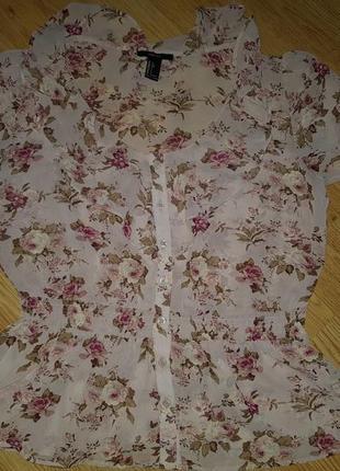 Цветочная блуза forever 21