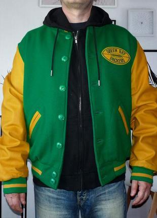 Куртка клубная varsity letterman green bay packers nfl