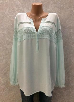 Блуза с кружевом marks&spencer