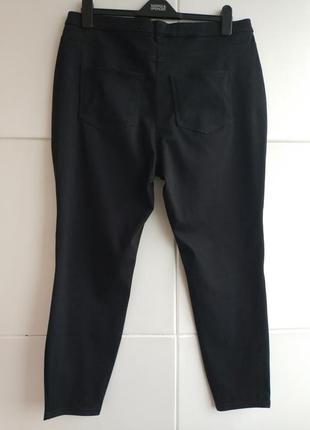Стильные и ультракомфортные брюки-скинни next  базового черного цвета с молниями3