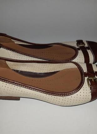 Кожаные туфли, балетки clarks оригинал 40 р. 26,5 см