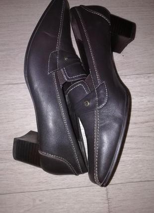 Туфли кожаные женские rohde размер 42-43 стелька 28см