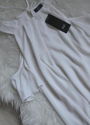Новая блузка с асимметричным низом и открытыми плечами f&f2